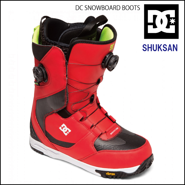 2個のダイヤルで上と甲部分んの両方を締め付けるフィット感抜群のブーツです 正規品 DC SHOES SHUKSAN ディーシースノーボード ブーツ snowboardboots BOA サービス BTS ランキングTOP5 BOOTS ダブルボアシステム double