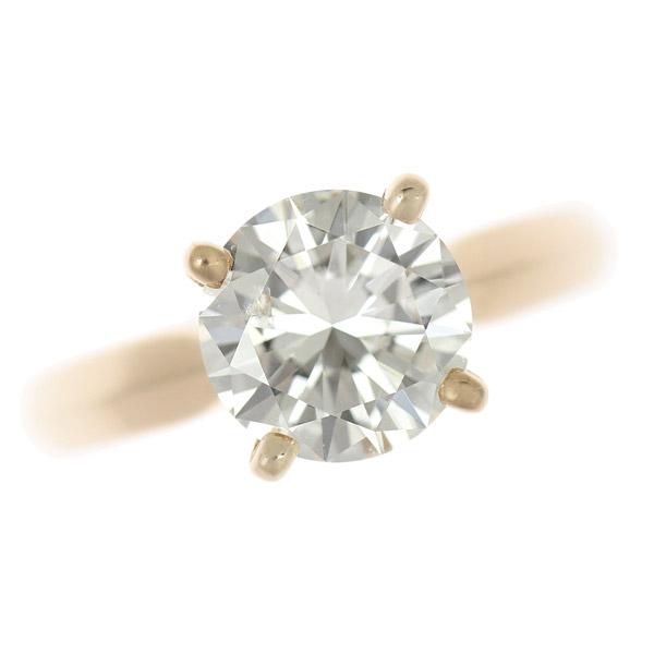 ☆B楽市本店☆本物 K18PG ルースダイヤモンド 2.033ct I-SI1-VG リング 指輪 11号【中古】【展示品】