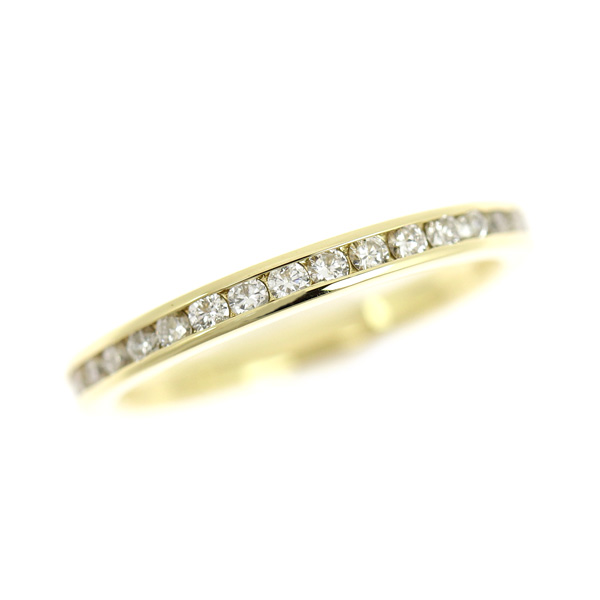 ☆B楽市本店☆本物 K18 ダイヤモンド 0.50ct エタニティ リング 指輪 8号 2.1g【中古】