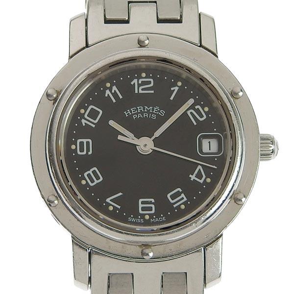 ☆B楽市ネット店☆本物 Hermes エルメス クリッパー レディース クォーツ 腕時計 CL4.210 【時計】【中古】