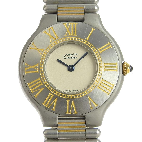 ☆B楽市ネット店☆本物 Cartier カルティエ マスト21 メンズ クォーツ 腕時計 【時計】【中古】