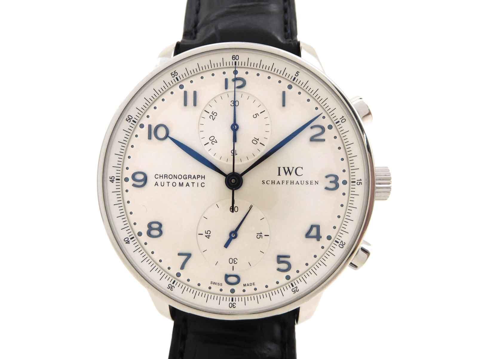 【スーパーセール!】〓楽市本店〓 IWC ポルトギーゼ クロノ IW371446 メンズ AT 白文字盤 腕時計 【時計】