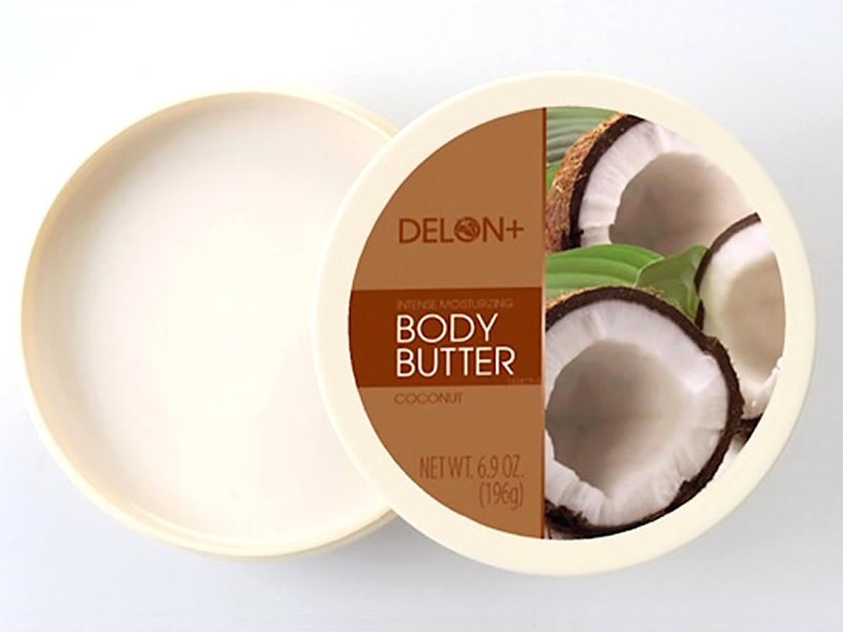 厳選した天然シアバター カナダ発のナチュラルコスメ DELON ストア BODY BUTTER ココナッツ ボディーバター 爆買い新作 COCONUT デロン