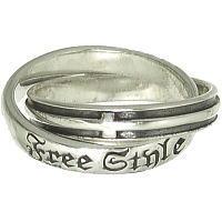 ダブルクロス シルバーリング(指輪)*FREE STYLE(フリースタイル)