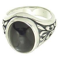アラベスクラージブラックスターストーン シルバーリング(指輪)*FREE STYLE(フリースタイル)