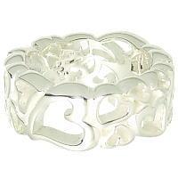 マルチハート シルバーリング 購買 指輪 STYLE 永遠の定番 FREE フリースタイル