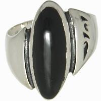オーバルオニキスストーン シルバーリング(指輪)*FREE STYLE(フリースタイル)