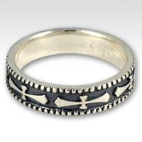ブラックオーバークロス シルバーリング(指輪)*FREE STYLE(フリースタイル)