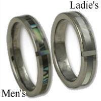 [ペア]シェルクロスタングステンペアリング(指輪)*FREE STYLE(フリースタイル)Tungsten