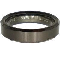 ブラックサイドカットタングステンリング(指輪)*FREE STYLE(フリースタイル)Tungsten