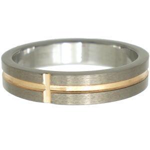 ゴールドクロスタングステンリング(指輪)*FREE STYLE(フリースタイル)Tungsten