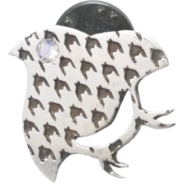 (6月)ブルームーンストーン ダブル チドリ シルバー ピンバッジ ピンズ*SWANKY(スワンキー) 誕生石