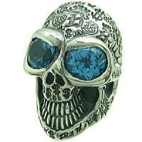 BWL(ビルウォールレザー) グラフィティースカルストーン シルバーリング(指輪)(Ld.99) Master Skull