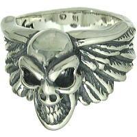 BWL(ビルウォールレザー) ウィングwグッドラックスカル シルバーリング(指輪)Good Luck Skull