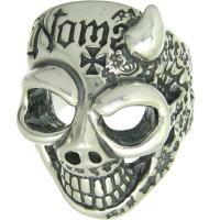 BWL(ビルウォールレザー) (Ltd,99)50/50ライトホーンマスタースカル シルバーリング(指輪)Master Skull 2009Ap