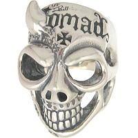BWL(ビルウォールレザー) (Ltd,99)50/50レフトホーンマスタースカル シルバーリング(指輪)Master Skull 2009Ap