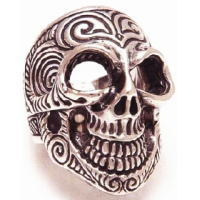 BWL(ビルウォールレザー) トライバルタトゥーマスタースカル シルバーリング(指輪)Master Skull