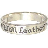 ■BILL WALL LEATHER/ビルウォールレザー正規取扱店 BWL(ビルウォールレザー) 25thアニバーサリーバンド シルバーリング(指輪) 2009Ap
