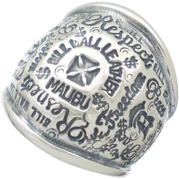 BWL(ビルウォールレザー) グラフィティ ドーム シルバーリング(指輪)