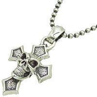 無料配達 Cクロスウィズグッドラックスカル シルバーペンダント Luck*BWL(ビルウォールレザー)Good Luck Skull, 紗那村:818e0295 --- eamgalib.ru