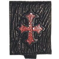 シャークビルフォールドウォレットウィズクロス*BWL(ビルウォールレザー)Gothic Cross