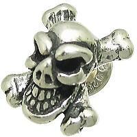 スカル&クロスボーン シルバーピアス*BWL(ビルウォールレザー)Good Luck Skull