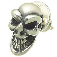 スカル シルバーピアス*BWL(ビルウォールレザー)Good Luck Skull