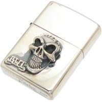 グッドラックスカル シルバージッポライター*BWL(ビルウォールレザー)Good Luck Skull Skull, 生地屋 レイピー:5db667b8 --- officewill.xsrv.jp