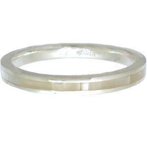 ホワイトシェル シルバーリング(指輪)*AQUA SILVER(アクアシルバー)