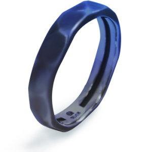 メンズゆらぎブルーグラデーション シルバーリング(指輪)*AQUA SILVER(アクアシルバー)