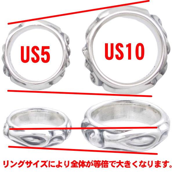 ロンワンズ LONE ONESミニ シルクリンク アンド イーグル バレル シルバーリング 指輪yn0N8mwvPO