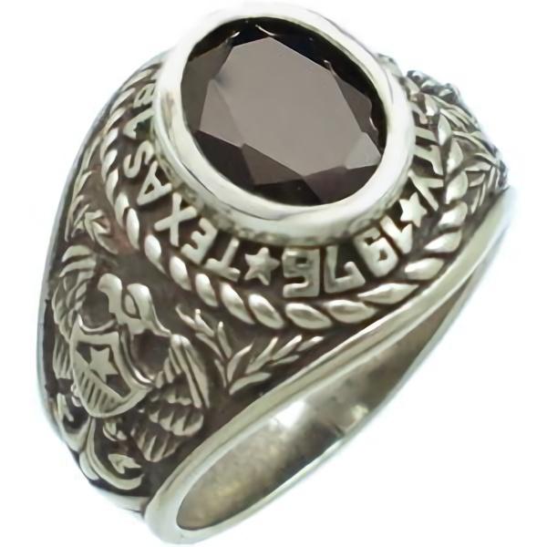 ブラックジルコニア シルバー カレッジリング (指輪)