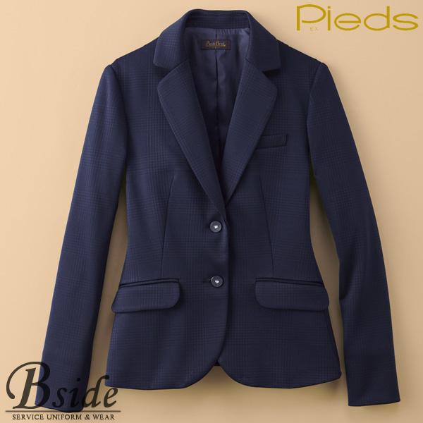 ピエ【Pieds】 ジャケット HCJ1510 シンプルに美しいボタン 袖折り返しで抜け感をデザイン 【ジャケット】 【レディース】  1510 series