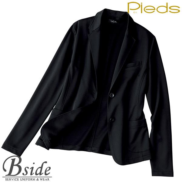 ピエ【Pieds】 リラックスジャケット HCJ9900 ・ニットだからシワになりにくい! ・上質素材できちんと感 ・伸縮性があり動きやすい 【ジャケット】 【レディース】