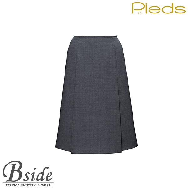 ピエ【Pieds】 ボックスプリーツスカート HCS0311 しなやかな風合いと繊細で美しい斜めの織り地が魅力。 【スカート】 【レディース】  0310・0311 series