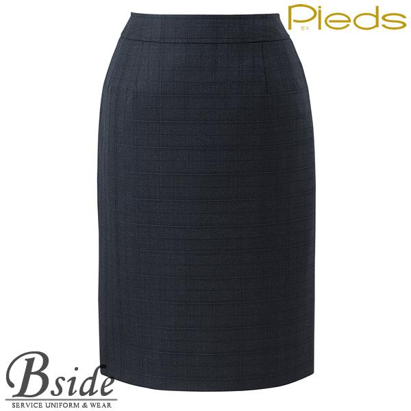 ピエ【Pieds】 スカート HCS8120 ベーシックデザイン×シルク混のシャドウチェック素材 【スカート】 【レディース】  8120 series