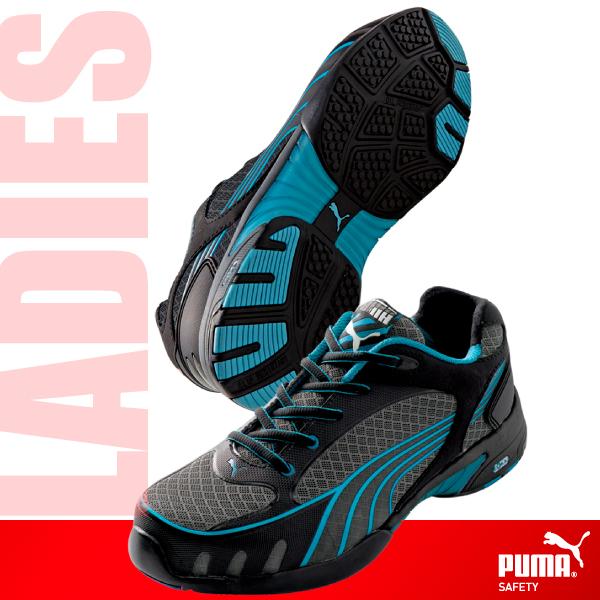 在庫処分 日本人の足に合わせて専用開発した安全靴 PUMA 64.232.0 Fuse Motion Blue Wns Low レディース セーフティスニーカー 安全靴 爆売りセール開催中 メーカー型式 ヒューズモーション ローカット 送料無料 スチール先芯の本格派女性用モデル
