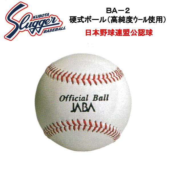 久保田スラッガー 硬式ボール(1ダース・12個入り) BA-2