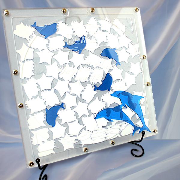 ウェディングドロップス ドルフィン ドロップス アクリル製 ウエルカムボード ペーパーアイテム 結婚式 披露宴 ウエディング