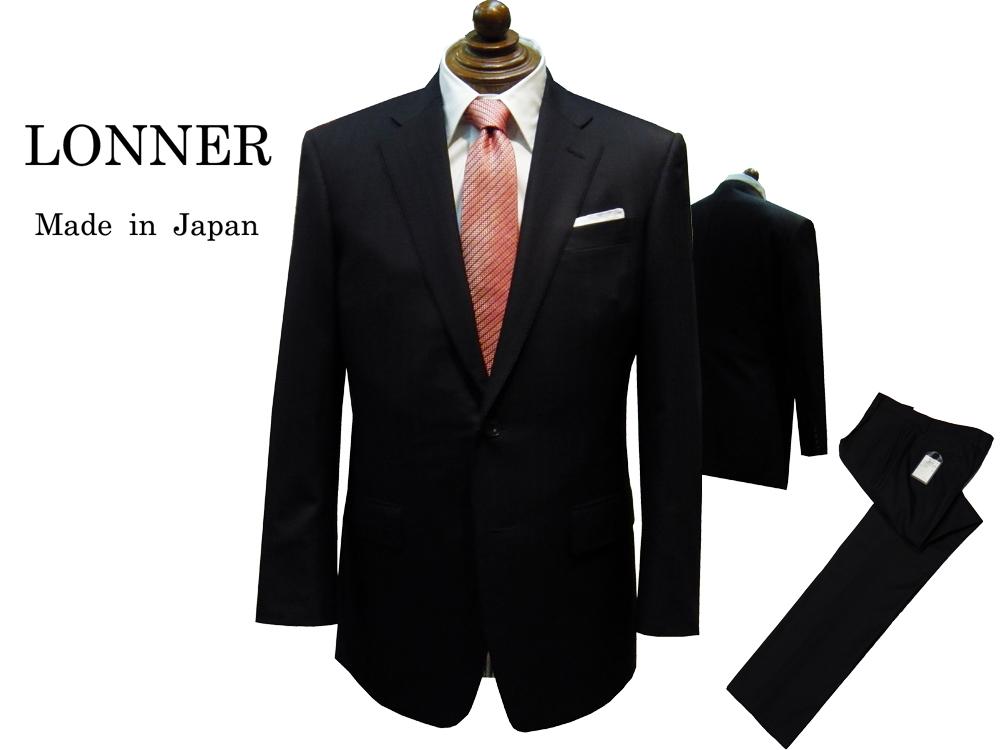 """LONNER × DAIDOH 国内縫製 トラディショナル スーツ ネイビー オルターネイトストライプ """"日本を代表するスーツメーカーが本気で作ったスーツ"""" MUDGEE WOOL 2釦 春・夏 ロンナー"""