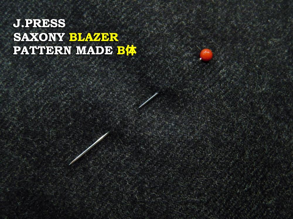 Jプレス J.PRESS(ジェイ・プレス) MEN パターンメイド 国内縫製 B体 サキソニー グレー ブレザー 3釦段返り 金メタル釦 1型 秋・冬 定番 Jプレス メンズ 3週間程度 AUTHENTICモデル ゆったり B4~B8