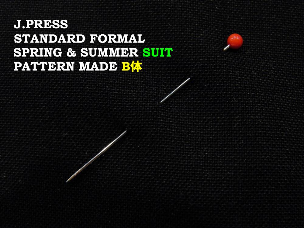 Jプレス J.PRESS(ジェイ・プレス) MEN パターンメイド フォーマル・スーツ B体 ブラック 3釦段返り フックベント 1型 春・夏モデル Jプレス メンズ 3週間程度 AUTHENTICモデル ゆったり B4~B8
