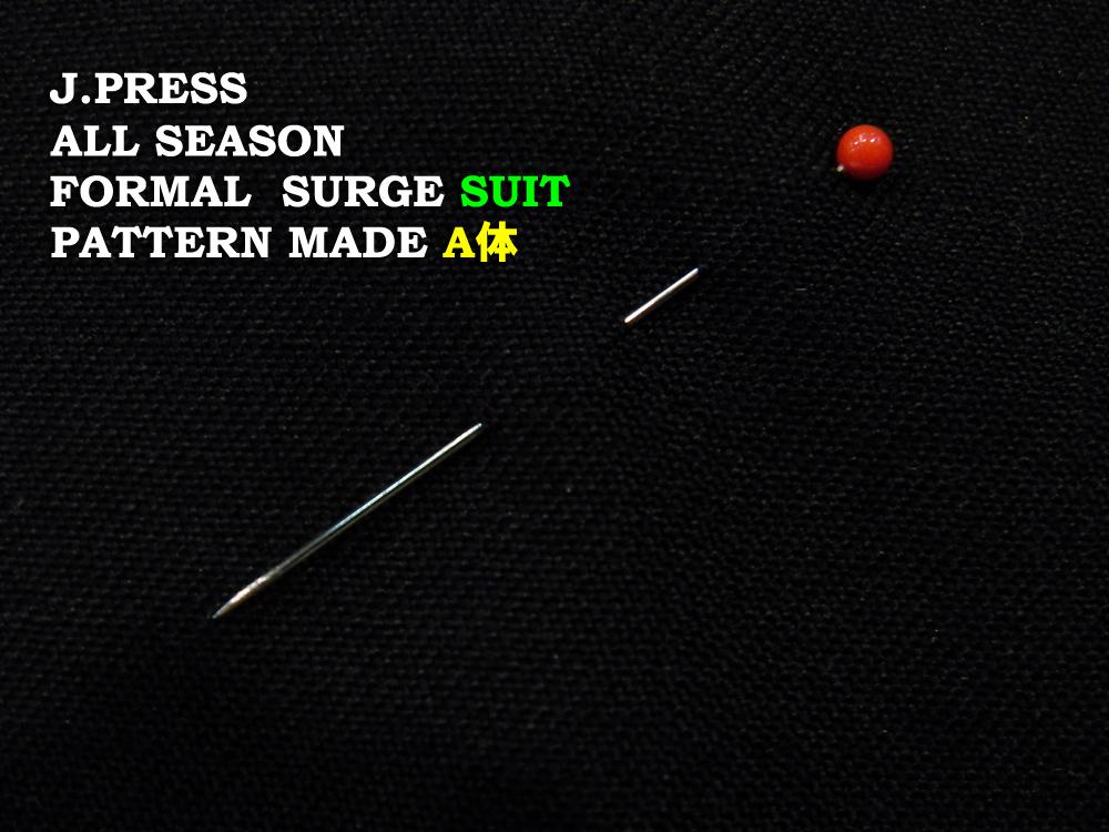 Jプレス J.PRESS(ジェイ・プレス) MEN パターンメイド JY体 サージ フォーマルスーツ ブラック 3釦段返り フックベント 1型 秋・冬モデル Jプレス メンズ 3週間程度 AUTHENTICモデル すっきり JY3~JY8