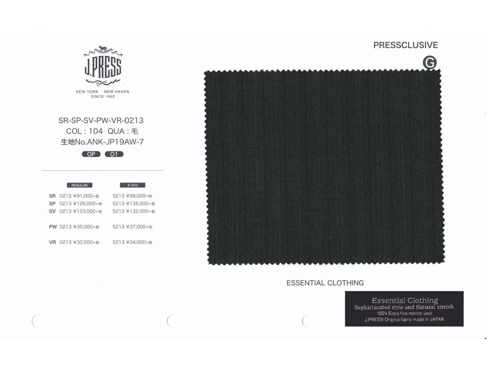Jプレス J.PRESS(ジェイ・プレス) MEN パターンメイド スーツ YA体 Essential Clothing オルターネイト・ストライプ グレー 2釦&センターベント 2019年秋・冬モデル 3週間程度 CLASSICS 2Bモデル すっきり YA3~YA8