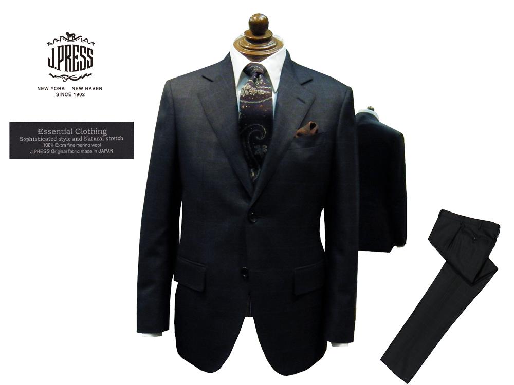 新作モデル Jプレス J.PRESS(ジェイ・プレス) MEN Clothing Essential MEN Clothing ミキシングチェック柄 スーツ グレー CLASSICS 2釦&センターベント 2019年秋・冬モデル CLASSICS 2Bモデル ニュースタイル:B-STATION, 麻生区:17009140 --- nagari.or.id
