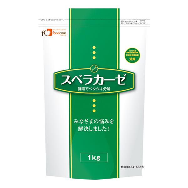 フードケア 介護食 安値 固形化調整食品 ゲル化剤 2袋購入で送料無料 スベラカーゼ 1kg 激安特価品