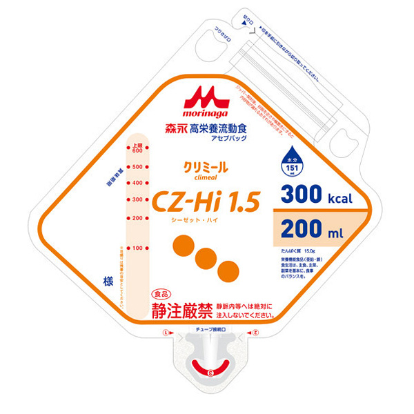 流動食 CZ-Hi1.5(シーゼット・ハイ)アセプバッグ 300kcal 200ml×20個 【2ケース購入で送料無料】