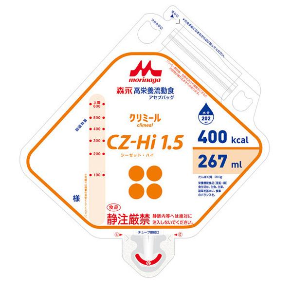 流動食 CZ-Hi1.5(シーゼット・ハイ)アセプバッグ 400kcal 267ml×16個 【2ケース購入で送料無料】