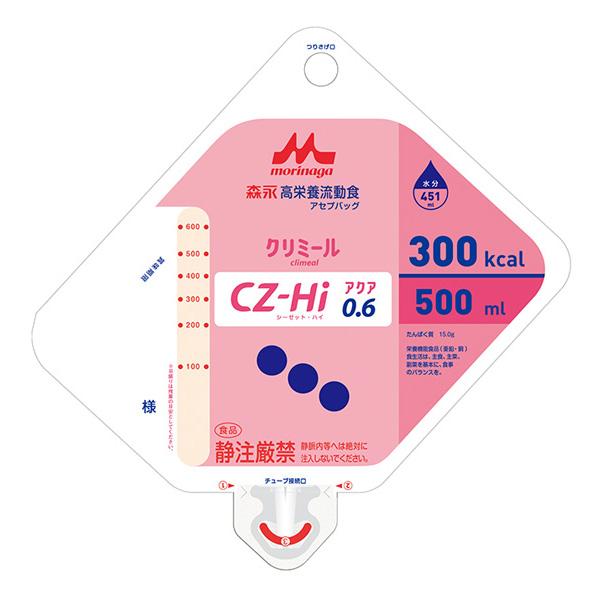 流動食 CZ-Hiアクア0.6(シーゼット・ハイアクア)アセプバッグ 300kcal 500ml×16個 【2ケース購入で送料無料】
