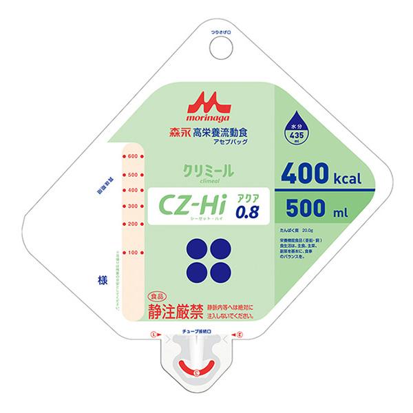 流動食 CZ-Hiアクア0.8(シーゼット・ハイアクア)アセプバッグ 400kcal 500ml×16個 【2ケース購入で送料無料】